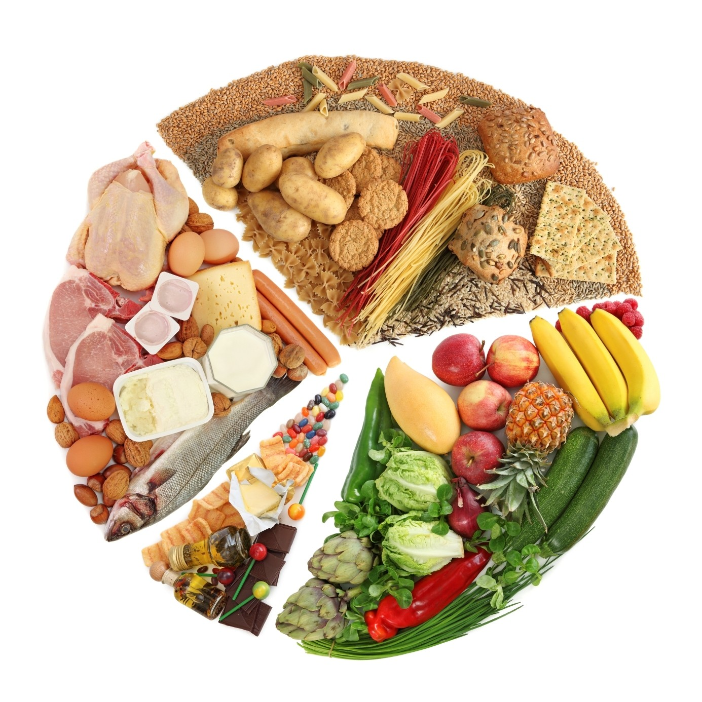 immagini di piatti equilibrati con menu dietetico dissociato