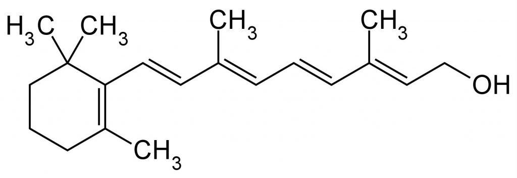 vitamina a retinolo struttura molecolare