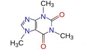 struttura molecolare caffeina