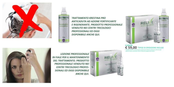 Krestina Pro Bioness: trattamento Anticaduta e Ricrescita Capelli in Spray e Lozione in fiale Relive, funziona davvero? Recensioni, Opinioni e dove comprarlo