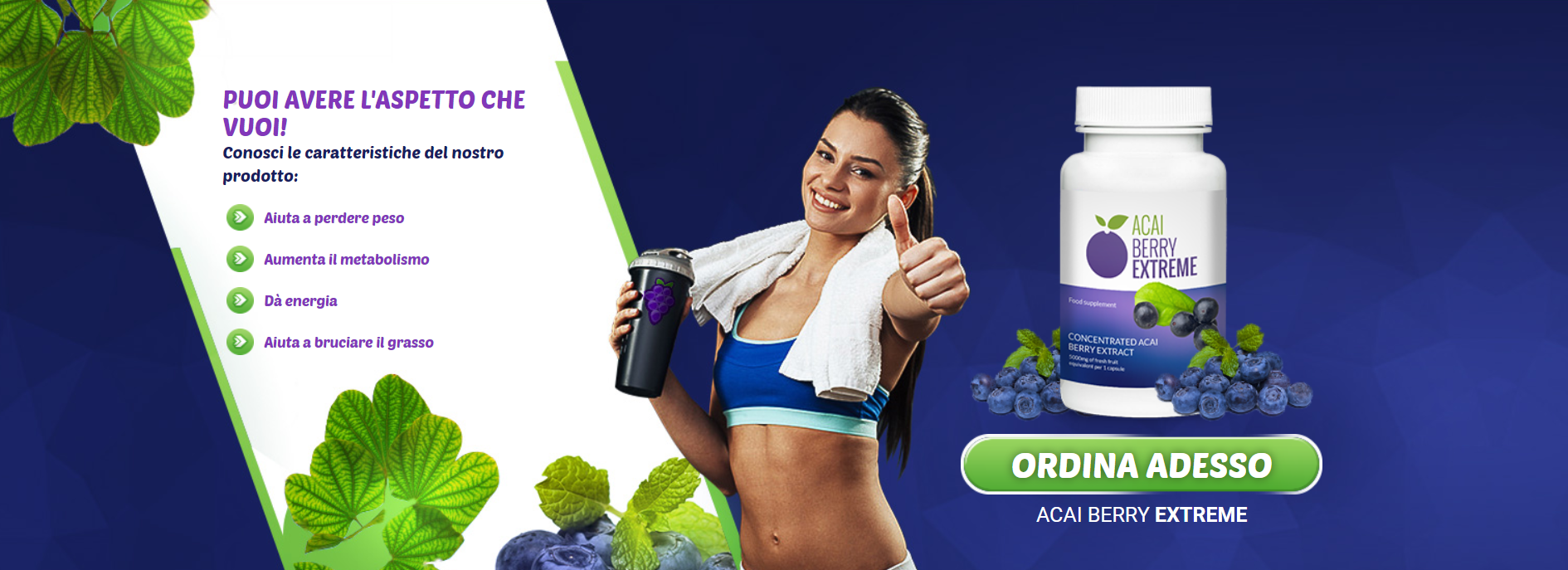 benefici di acai berry supplementi di perdita di peso