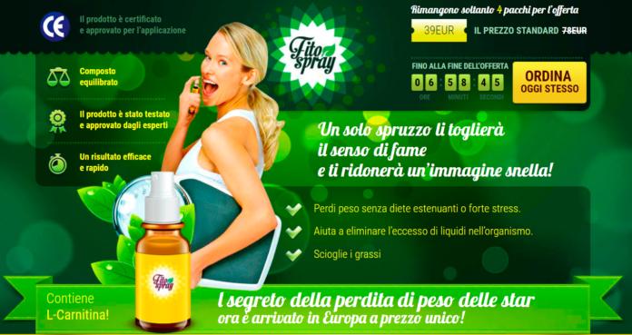 Fito Spray: veramente aiuta a perdere peso? Recensioni, Opinioni e dove comprarlo