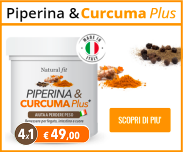 Piperina e Curcuma Plus Natural Fit