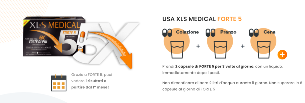 XL-S Medical Forte 5: integratore dimagrante in capsule testato clinicamente, funziona davvero? Recensioni, opinioni e prezzo