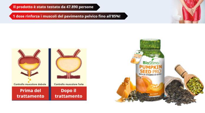 Pumpkin Seed PRO BioStimo: integratore per incontinenza urinaria, funziona davvero? Recensioni, opinioni e dove comprarlo