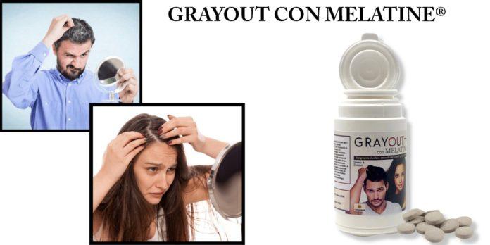 GrayOut con Melatine®: integratore per ripigmentazione di capelli bianchi o grigi, funziona davvero? Recensioni, opinioni e dove comprarlo