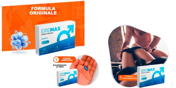 Eremax: capsule per Potenza ed Erezione, funziona davvero? Recensioni, opinioni e dove comprarlo